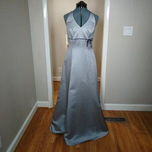 NWT! Alfred Angelo 6499 size 10 Platinum/Navy